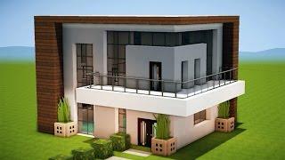 Minecraft como fazer uma casa moderna 204 for Casa moderna facil minecraft tutorial
