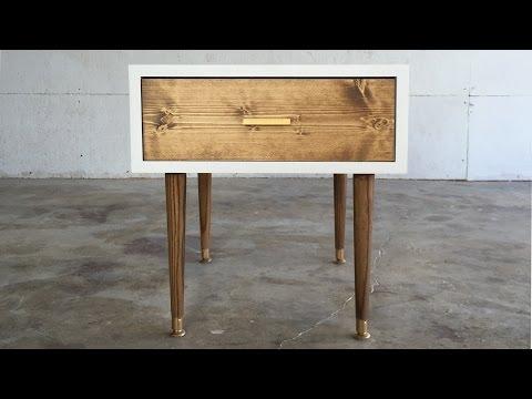 DIY MID CENTURY MODERN END TABLE | Modern Builds | EP. 29
