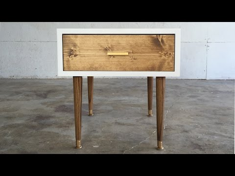 DIY MID CENTURY MODERN END TABLE | Modern Builds | EP. 29