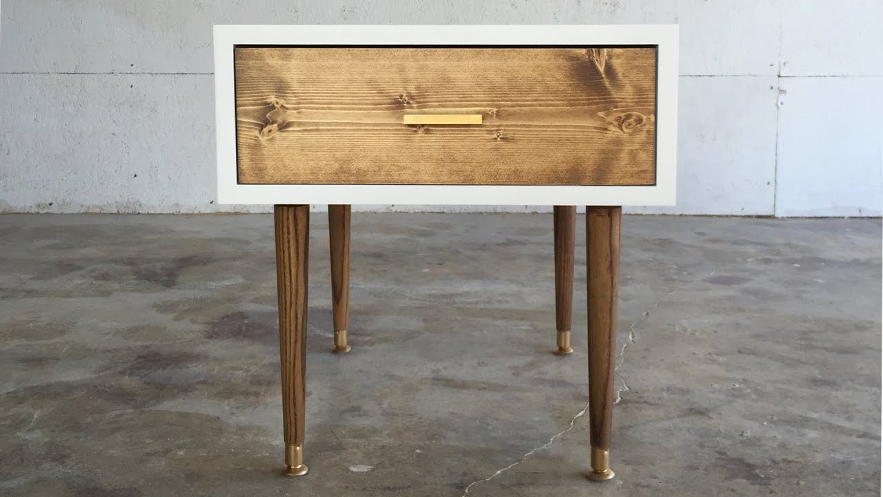 DIY MID CENTURY MODERN END TABLE | Modern Builds | EP. 29 ...