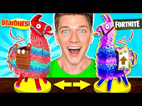 FORTNITE CANDY CHALLENGE! Learn How To Make DIY Edible Fortn