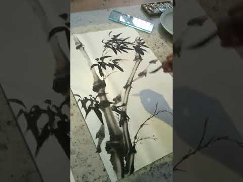 Chinese Art  How to Paint Bamboo in Ink Painting by  Dushi H
