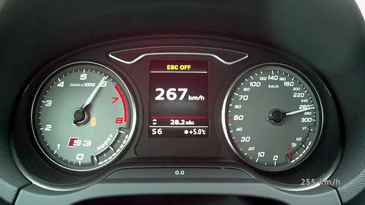 Audi S3 Sedan 2014 - acceleration 0-250 km/h, top speed test and more ...