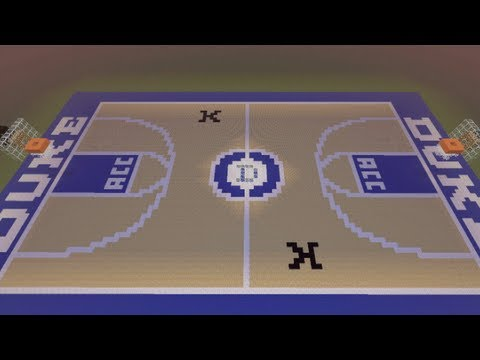Minecraft basketball court duke blue devils coach k for How to build basketball court