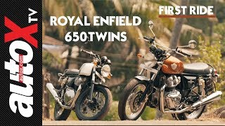 Royal Enfield Interceptor 650 & Continental GT 650 Review | First Ride | autoX