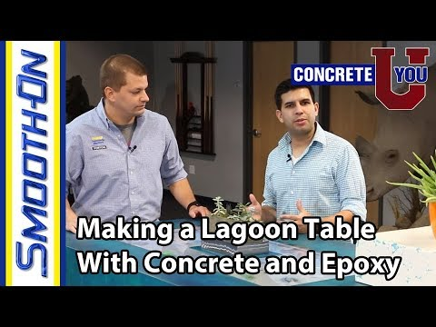 How to Make a Concrete and Epoxy Lagoon Table Aquarium