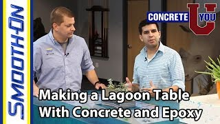 How to Make a Concrete and Epoxy Lagoon Table Aquarium