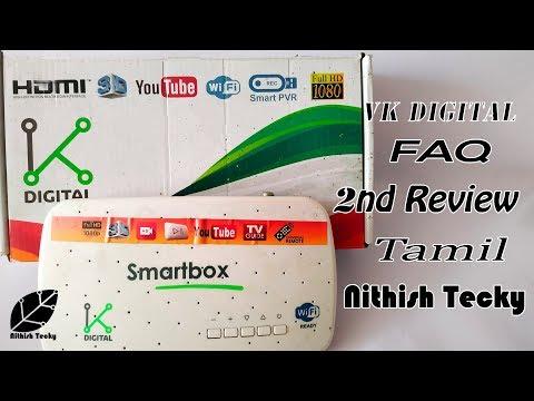 VK DIGITAL Setup Box 2nd Review And FAQ | NITHISH TECKY