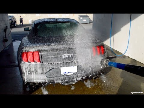 Washing My 2019 Mustang GT for the First Time! Cheap Car Wash