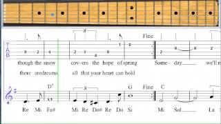 Somewhere My Love - Learn to play this song on guitar level 6