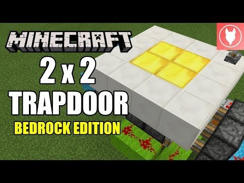 Minecraft Bedrock - 2 X 2 Trapdoor Tutorial ( Xbox / MCPE / Windows 10 / Switch )