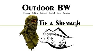 How To Tie a Shemagh: in Winter Conditions - TEST Video - Outdoor BW