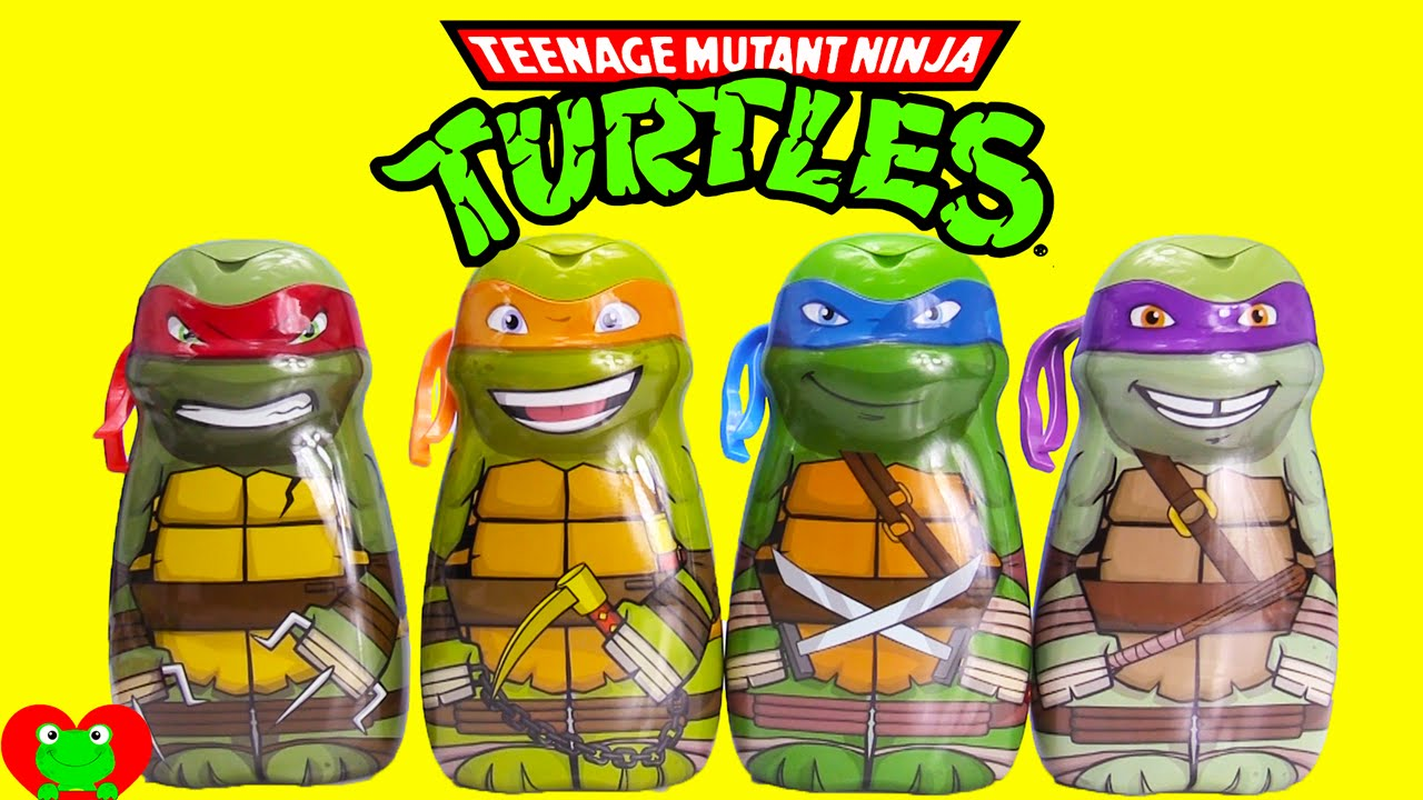 Age Mutant Ninja Turtles Bath Soaps And Surprises With Kins You