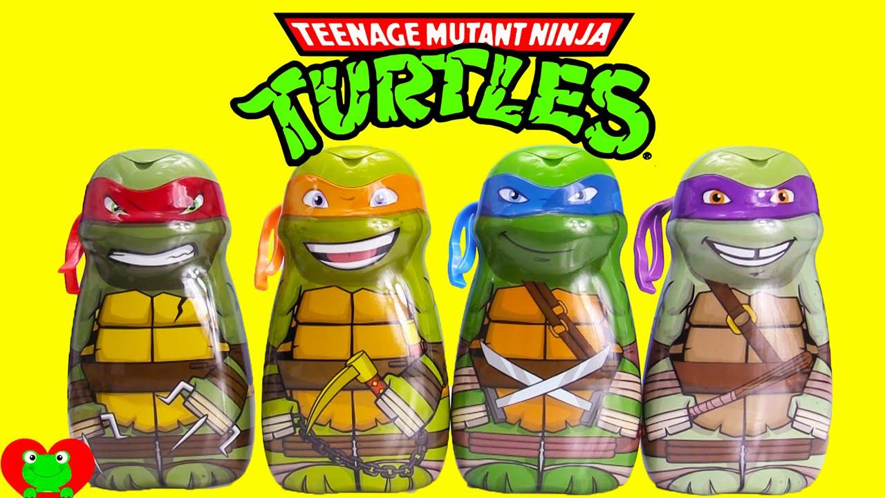 Delightful Teenage Mutant Ninja Turtles Bath Soaps And Surprises With Shopkins    YouTube