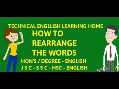 Basic English Grammar - How to Re Arrange The Words in Sentences