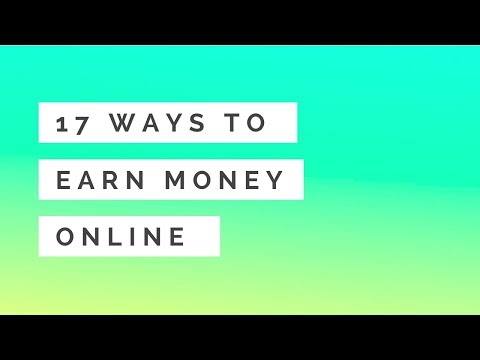 19 Proven Ways to Make Money Online in 2018