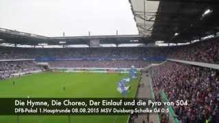 DFB-Pokal 1.Runde: MSV Duisburg-Schalke 04 Die Choreo.