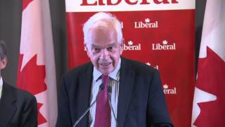 Liberal candidate John McCallum reacts to NDP costing