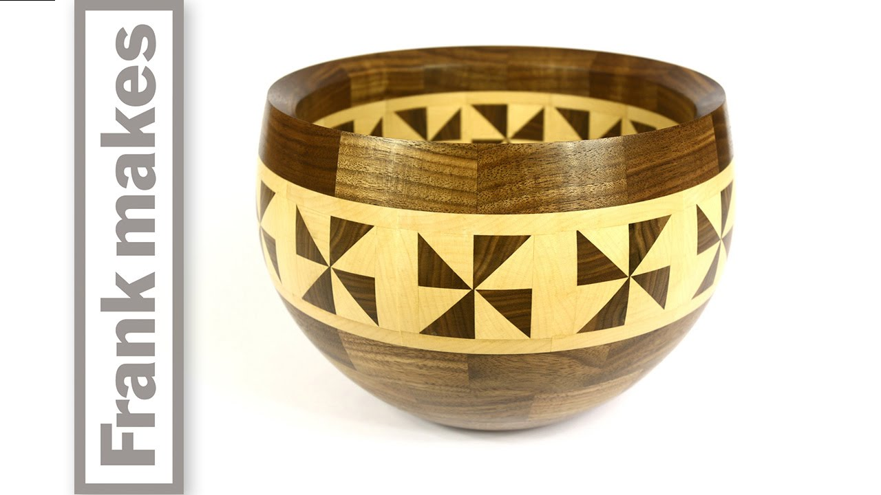 Segmented Walnut And Maple Bowl