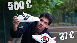 GUCCI ACE BEE SNEAKERS - 500€ VS 37€ - REAL VS FAKE  [I´m Eneko]