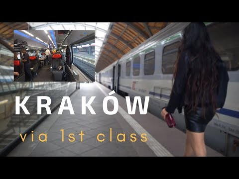 [4K] Kraków (Cracow) Poland Old City + 1st Class Journey via OBB Rail