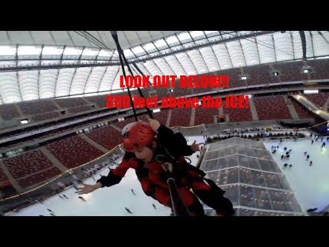 Warsaw Poland Travel Guide ...60 km per hour ZIP LINE over Poland's BIGGEST Stadium!!!