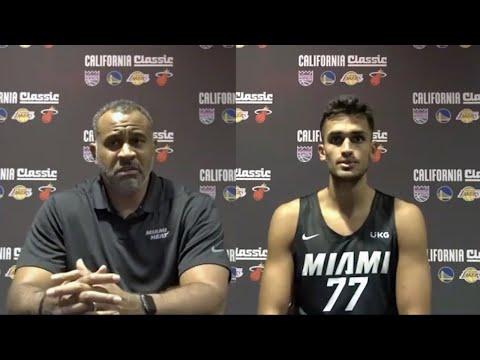(ALTYAZILI) Ömer Faruk Yurtseven ve Miami Heat koçu Malik Allen soruları yanıtlı