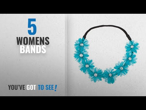 Top 10 Womens Bands [2018]: Lux Accessories Stretch Fit Floral Headband Head Crown Flower Crown