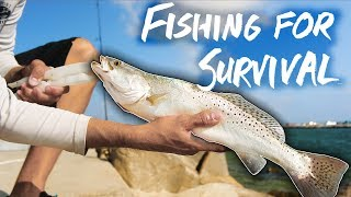 SURVIVAL FISHING one węek eating ONLY the fish I catch