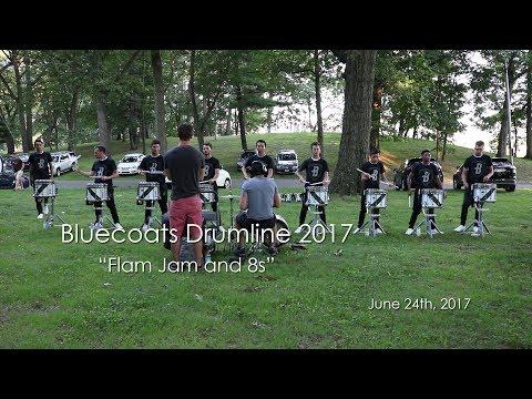 Bluecoats Drumline 2017  - Flam Jam and 8s (Massillon, Ohio June 24th, 2017)