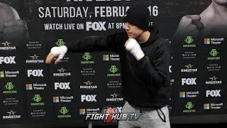 OMAR FIGUEROA SHAKES OUT & SHADOW BOXES THREE DAYS OUT FROM JOHN MOLINA JR FIGHT
