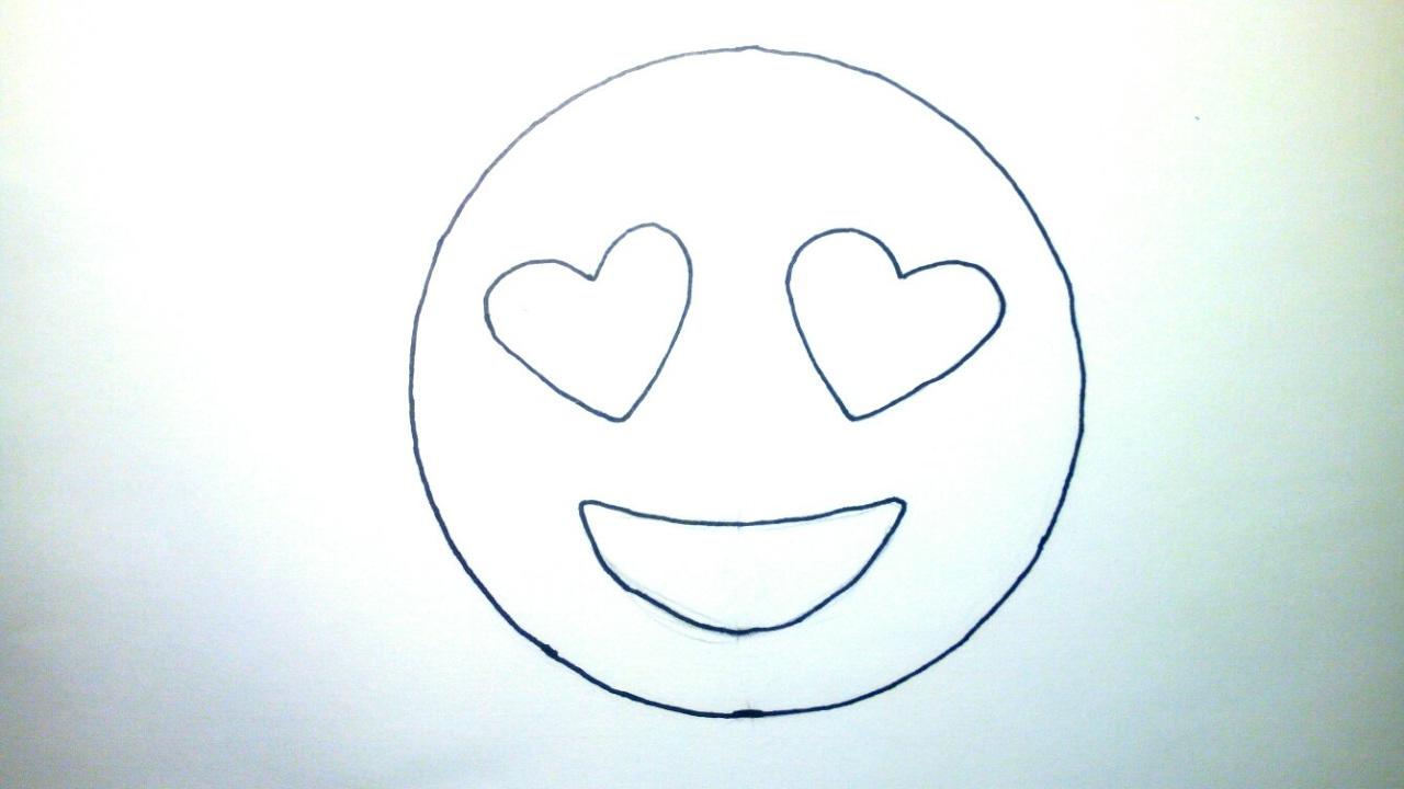 Emojis Whatsapp Cmo dibujar un emoji enamorado paso a paso