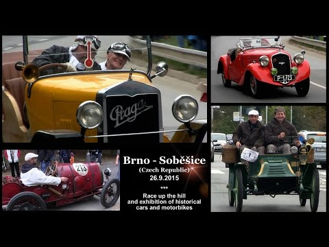 Brno Soběšice 2015 - exhibition of historical cars/motorbikes with ride up the hill