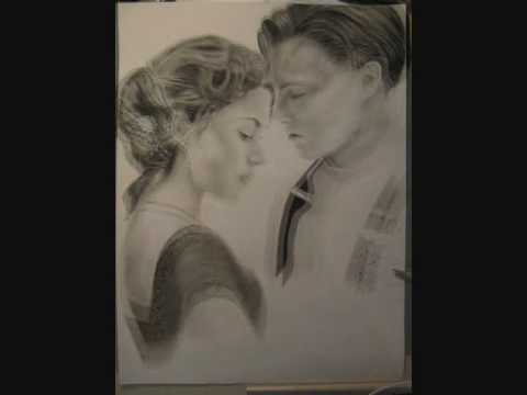 jack (leonardo dicaprio) and rose (kate winslet) drawing ...