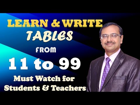 Trick 24 - Write all Tables From 11 to 99