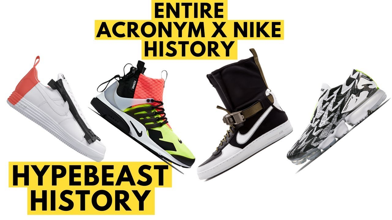 15941643626a Acronym Nike History and Complete Collection - Hypebeast History ...