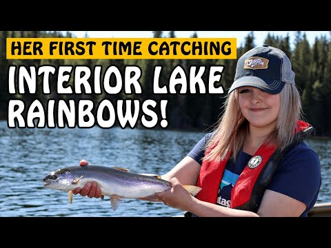 HER FIRST AND BEST RAINBOW TROUT DAY! Lake Fly Fishing In Merritt BC Canada   Fishing With Rod