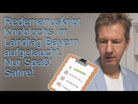 Redemanuskript Knoblochs im Landtag Bayern aufgetaucht.              Nur Spaß!
