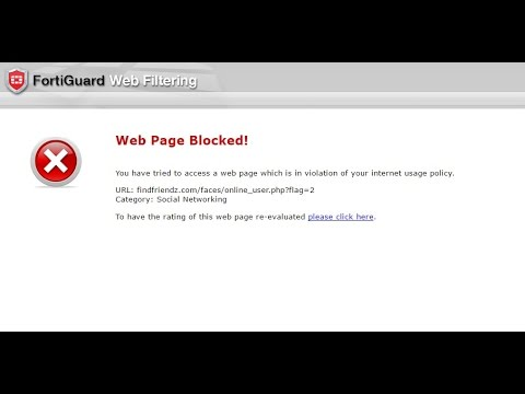 How To Bypass Unblock Websites Fortiguard Webfilter Using