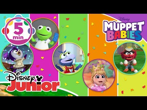 Muppet Babies  Top 5: Messy Moments 🎨  Disney Junior UK