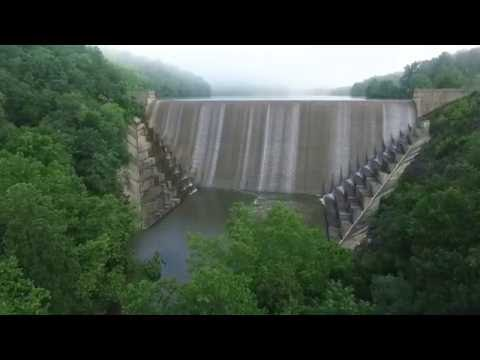 Drone View of Liberty Dam, Eldersburg MD