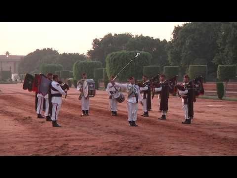 Military Band Performance at Ceremonial Change of Guard at Rashtrapati Bhavan
