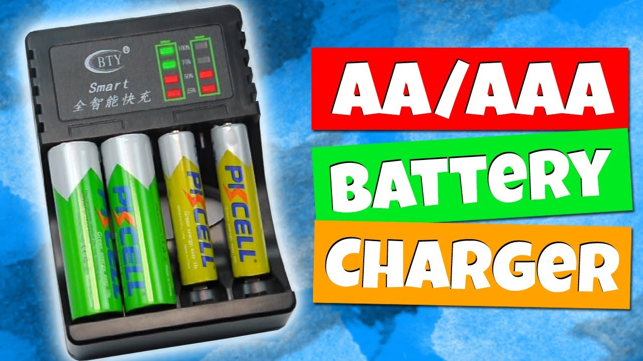 Rechargeable Battery Charger Led Indicators Bty C704a3 For Aa Aaa Nimh Nicd From Aliexpress Youtube