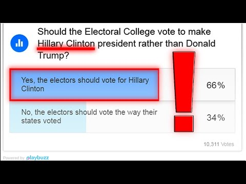 Faithless Electors Trump Card | Poll Majority Wants Hillary Clinton Over Donald Trump