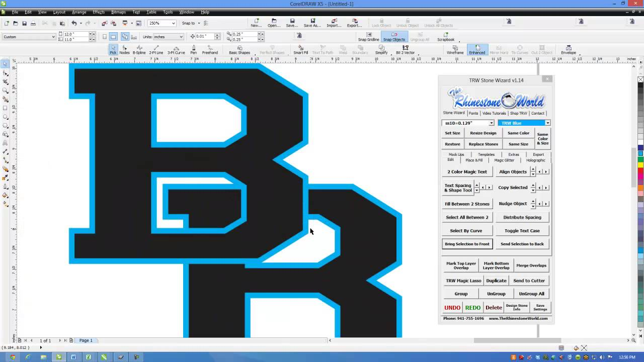 Sticker graphic design software - How To Design A School Vinyl Car Decal Or Shirt Letter Logo In Coreldraw The Rhinestone World