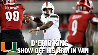 Miami QB D'Eriq King Shows Off His Arm In Canes Win