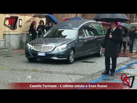 Caselle Torinese - L'ultimo saluto a Enzo Russo