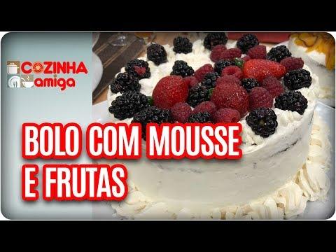 Bolo Com Mousse De Leite Condensando E Frutas - Dalva Zanforlin | Cozinha Amiga (29/03/18)