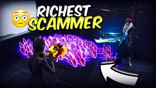 Richest Scammer Loses 1000 Sunbeam! (Scammer Gets Scammed) Fortnite Save The World!