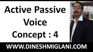 Best Rules and concept of Active Passive Voice Concept Session 4